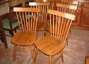 .sillas novo línea americana versión danesa en madera maciza