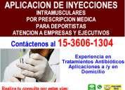 Inyecciones aplicaciones barrio norte tfno *15-3606-1304*