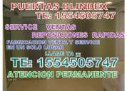 Puertas blindex cerraduras electricas por control remoto para blindex te.1554505747 todas las zonas