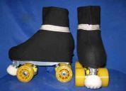 Cubrebotas para patin de algodon y lycra con brillo