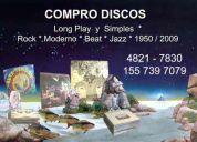 Compro discos lp rock nacional - internacional, jazz. y otros.