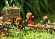 Artesanias argentinas, duendes, hadas, elfos, dragones, souvenirs,lamparas