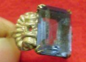 Anilo de platino y oro 18 k - siglo xix 1890 oportunidad