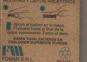 Cajita industria argentina. fósforos pabilo .