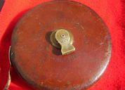 Antigua cinta mÉtrica chesterman sheffield england aÑo 1900 30 mts.cuero cocido impecable