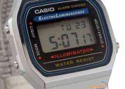 Reloj casio a-168wg luz alarma