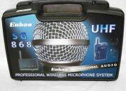 Microfono inalambrico de mano/ vincha enbao uhf profesional