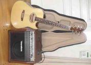 Guitarra amplificador y funda impecables!!!!!!!