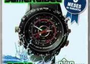 Reloj espia con camara oculta escondida sumergible deportivo