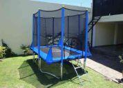 cama elastica 2x3mt con proteccion saltocrazy!!!