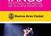 Mundial de tango 2011 - entradas, pase original para la final en el luna park!!!
