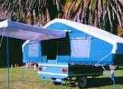 Trailer para camping ridao con carpa