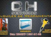 Ch servicios alquiler de herramientas, andamios, martillo demoledor, equipos electrogenos