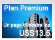 Hosting premiun 1 pago trimestral de solo 13,50 u$s