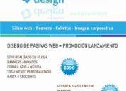 DiseÑo de sitios web totalmente personalizados - imagen de marca - flyers - plantillas