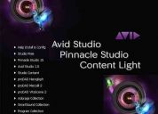 Pinnacle 15 + plug + bonus 4.40gb / content light pack 1 5. y pack 2 / 11.5gb- avid studio
