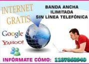 Internet gratis satelital sin abono mensual .