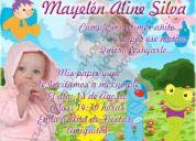 Invitaciones digitales y personalizadas, invitaciones para cumpleaños, invitaciones infant