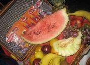 barras de licuados y jugos de frutas