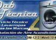 Servicio tecnico de lavarropas en luis guillon 4298 1212
