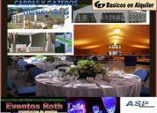 Alquiler de  carpas y gazebos  para eventos y fiestas