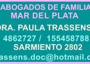 Abogados familia   mar del plata    dra. trassens   4862727-155458788