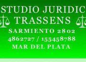 abogados  familia    y laboral mar del plata  4862727 / 155458788