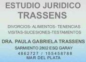 abogados  familia  dra. paula trassens  4862727/ 155458788 divorcios  alimentos