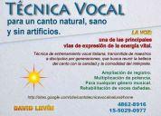 Canto - técnica vocal natural