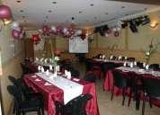 Salón para todo tipo de eventos sociales