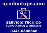 servicio técnico de computadoras a domicilio  rosario 0341-6808866