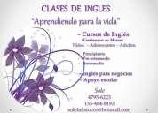 Ingles - apoyo escolar - clases para adolescentes y adultos