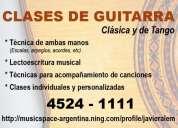 Clases de guitarra clÁsica y de tango