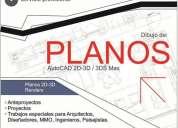Diseño de planos en autocad 2d / 3d max studio