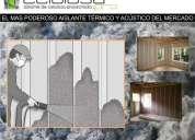 Aislacion termica y acustica de celulosa proyectada