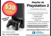 Alquiler de playstation 2 modelo slim 90001