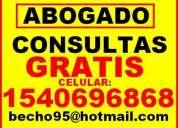 Abogados consultas gratis en cap. fed. 15-40696868
