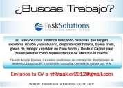 Representante de atencion al cliente en task solutions