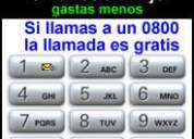 0800 en tu celular o fijo