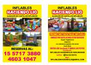 Alquiler de castillos inflables plazas blandas metegoles nuevos