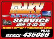 Servicio tecnico :maky electronica.calle belgrano 821 a 130 metros de la iglesia de pilar