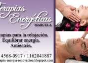 Terapias de energia -alternativas-antiestres, relajación,energia