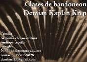 Profesor de bandoneón, música y audioperceptiva. tango.