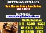 Abogada divorcios, penal despidos desalojos sucesiones 4305-6373