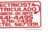 Electricista matriculado 44414495  15 57167439
