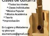 Clases de guitarra - rock, blues, clásico, folclore, tango - en villa lugano y mataderos