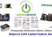 Service devoto, reparacion y servicio tecnico tv lcd led, notebook, proyectores, camaras digitales