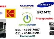 Service de camaras digitales, reparacion y servicio tecnico de camaras de fotos