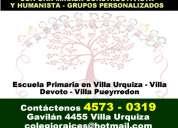 Primarias villa urquiza 4573-0319 - colegio raices