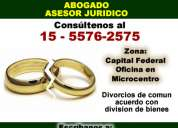 abogado tramite de divorcio en capital federal 15-5576-2575
